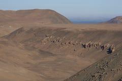 Dry river valley in the Atacama Desert Stock Photography