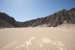 Dry River Valley In Desert Mountains Royalty Free Stock Image