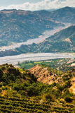 Dry riverbed in Calabria Royalty Free Stock Photography
