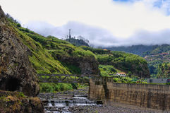 Dry riverbed, Madeira , Portugal Royalty Free Stock Photography