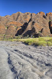 Dry riverbed of Piccaninny Creek, Bungle Bungles National Park Stock Image