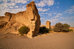 Dry riverbed of Sesriem Canyon Stock Images