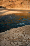Dry riverbed Stock Photography