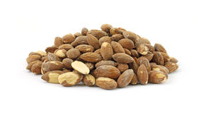 Dry roasted and salted almonds Royalty Free Stock Images
