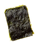 Dry roasted seaweed isolated on white. Background Stock Photos