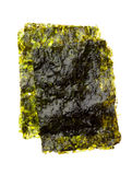 Dry roasted seaweed isolated on white Royalty Free Stock Photography