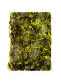 Dry roasted seaweed isolated on white Royalty Free Stock Images