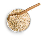 Dry rolled oatmeal. Stock Images