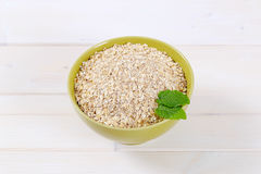 Dry rolled oatmeal Stock Image