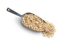 Dry rolled oatmeal. Royalty Free Stock Photography