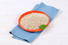 Dry rolled oatmeal Royalty Free Stock Images