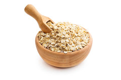 Dry rolled oatmeal. Royalty Free Stock Photo
