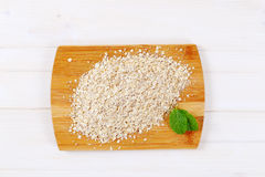 Dry rolled oatmeal Royalty Free Stock Photo