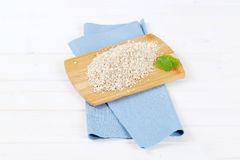 Dry rolled oatmeal Stock Photography