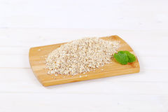 Dry rolled oatmeal Stock Photos