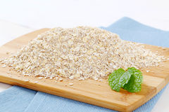 Dry rolled oatmeal Royalty Free Stock Photos