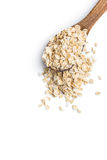 Dry rolled oatmeal. Royalty Free Stock Image