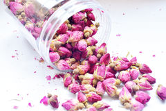 Dry rose bud. In glass bottle Royalty Free Stock Images