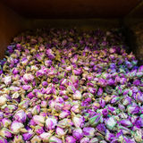 Dry rose buds store display close up Stock Images