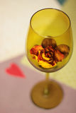 Dry rose. Still life with dry rose and heart Royalty Free Stock Images