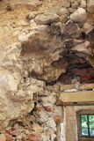 Dry rot on old wall Royalty Free Stock Photos