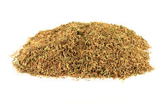 Dry Rubbed Natural Remedy Thyme. Royalty Free Stock Photography