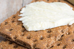 Dry rye crisp bread and butter Stock Photos