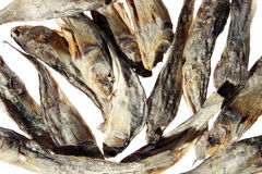 Dry salt fish Stock Photo