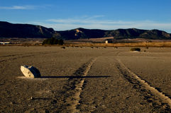 Dry salt lake - desert landscape Royalty Free Stock Photo