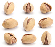 Dry salted pistachio set Stock Photos