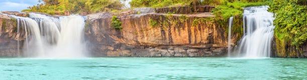 Dry Sap waterfall. Beautiful Dry Sap waterfall in Vietnam. Panorama Royalty Free Stock Photography