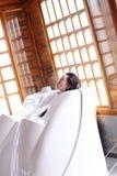 Dry sauna bed Stock Image