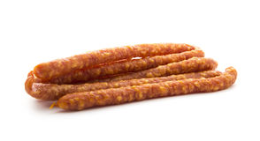 Dry sausage Royalty Free Stock Photography