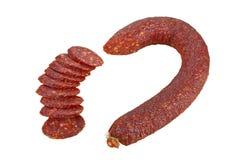 Dry sausage salami Stock Photos