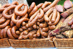 Dry Sausages Stock Images