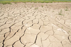 Dry season - dried ground Royalty Free Stock Image