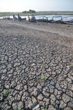 Dry Season in Indonesia. Cengklik reservoirs in Boyolali, Indonesia dries up as a result of droughts Royalty Free Stock Photos