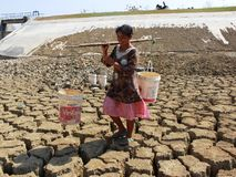 The dry season in Indonesia Stock Photography