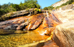 Dry season of waterfall Stock Images