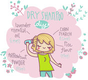 Dry shampoo do it yourself Stock Photos
