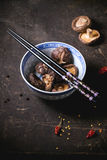Dry shiitake mushrooms Stock Image