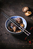 Dry shiitake mushrooms Royalty Free Stock Image