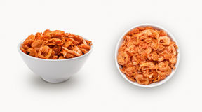 Dry shrimps in a bowl Royalty Free Stock Image