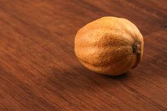 The Dry Single Lemon on the Wood Stock Photo