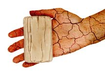 Dry skin! Royalty Free Stock Image