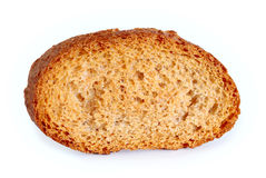 Dry slice of bread isolated Stock Images