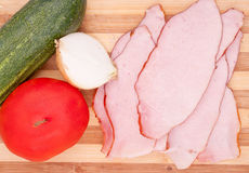 Dry sliced meat Royalty Free Stock Photography