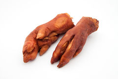 Dry smoked pork trotters Royalty Free Stock Images