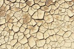 Dry soil. Detail of a cracked dry soil in water shortage time stock image