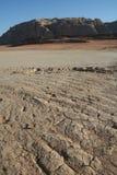 Dry soil. In Wadi Rum Royalty Free Stock Photos